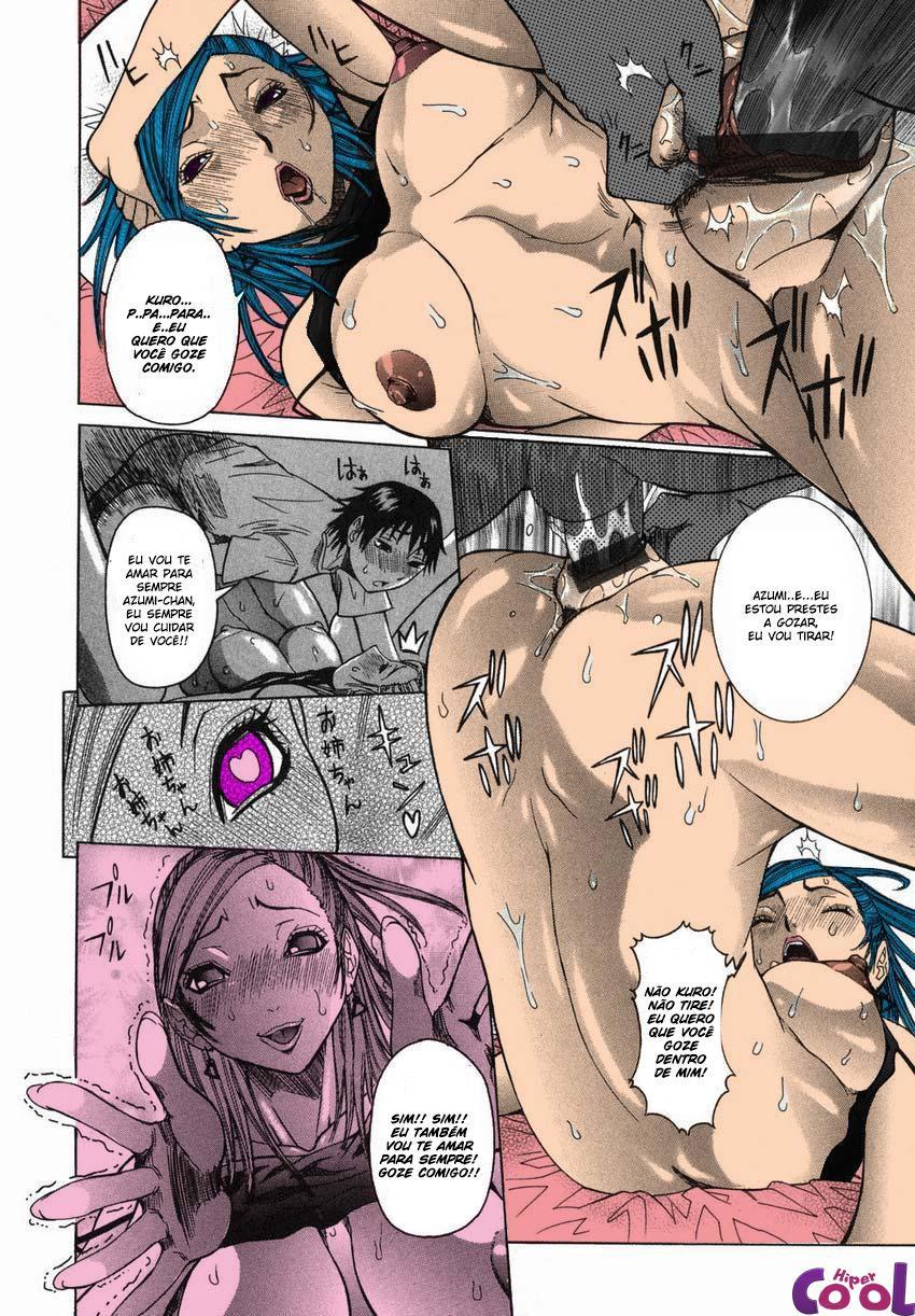 Transando com a irmã, hentai de incesto