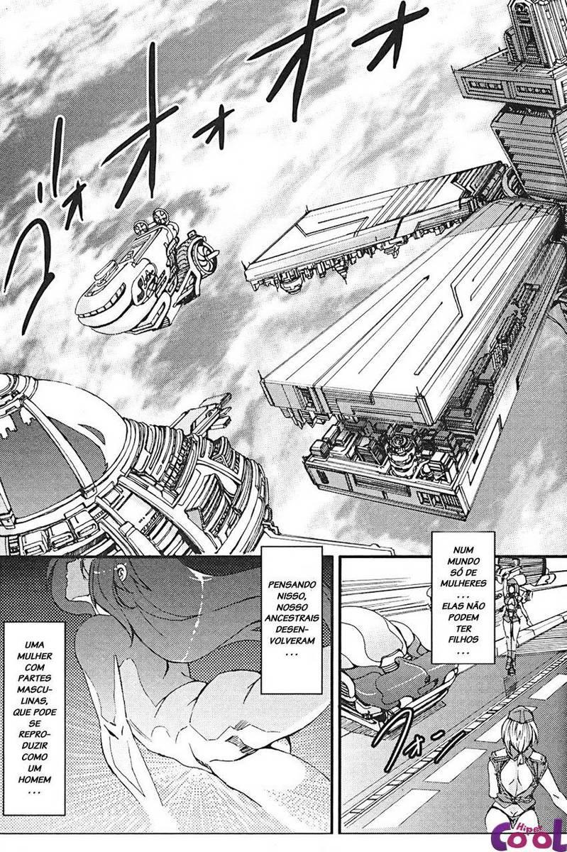 Hentai Futanari do espaço, hentai do futuro