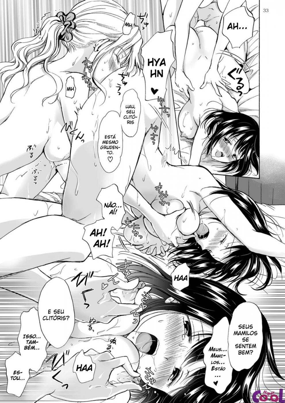 Hentai de sexo lésbico, amigas chupa xana