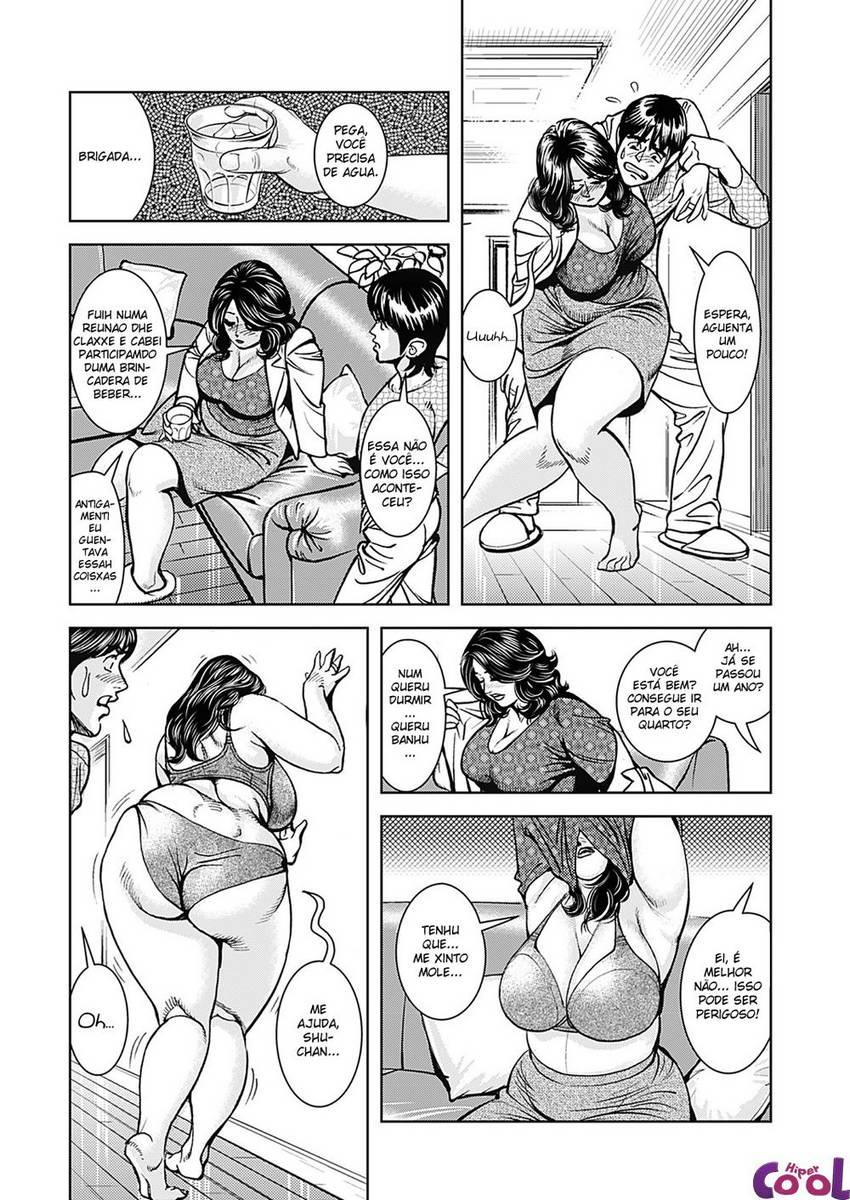 Hentai Uma mãe rechonchuda fica com tesão!