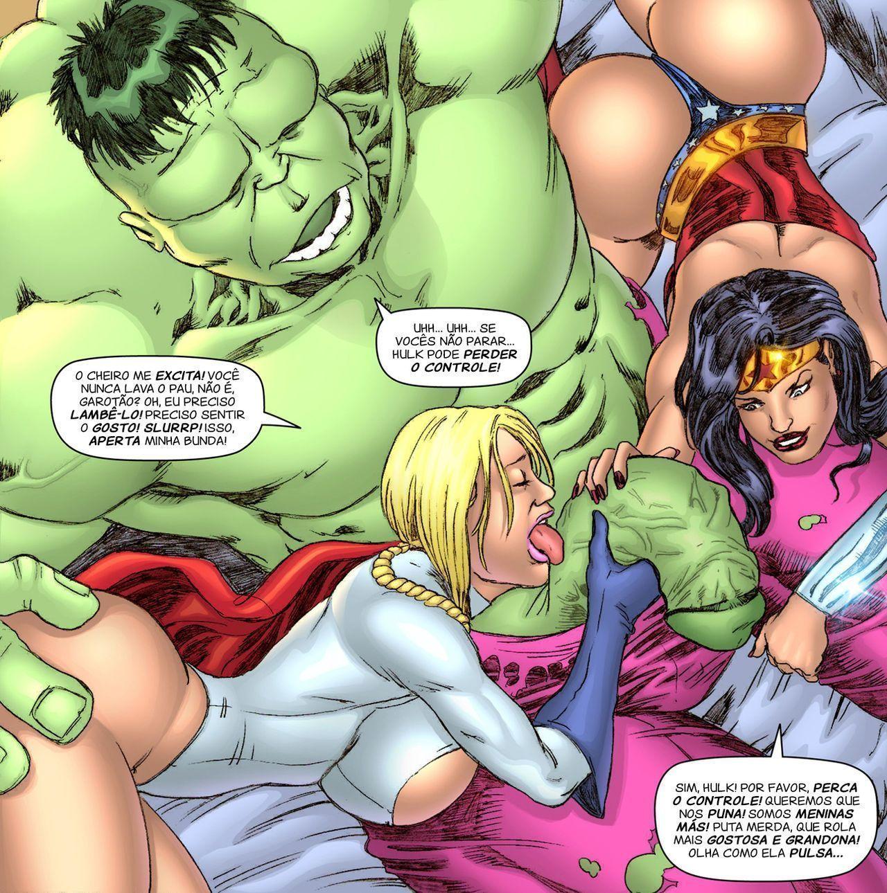 Poderosa e Mulher maravilha X Hulk